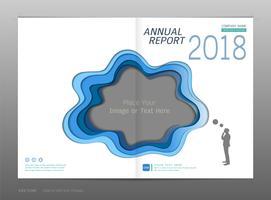 Relatório anual de design de capa, espaço em branco para a sua imagem.