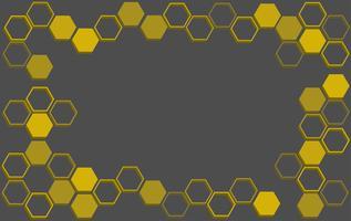 fundo abstrato hexágono, fundo abstrato colmeia de abelha vetor
