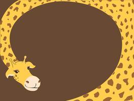 vetor de fundo de desenho de girafa