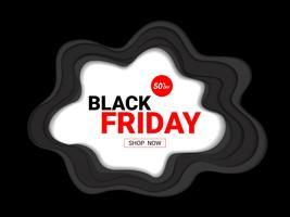 Modelo de design de inscrição de venda sexta-feira negra. vetor