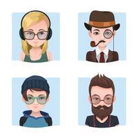 Coleção de rapazes hipster