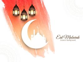 Abstrato Eid Mubarak fundo islâmico vetor
