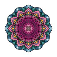 Mandala colorida linda 6