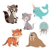 Coleção de espécies animais vetor
