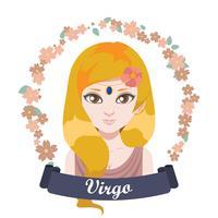 Ilustração do signo do Zodíaco - Virgem vetor