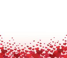 vetor de fundo coração vermelho