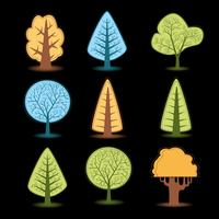 Desenhos de árvores vetor