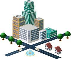 Conjunto de objetos para design urbano vetor