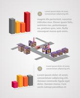 Modelo de negócio infográfico vetor