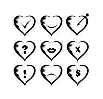 ícones dos namorados vetor