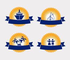 emblemas vintage vetor