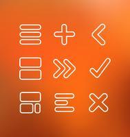 Ícones de computador linear