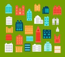 Edifícios de cidade de estilo simples