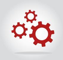 símbolo de engenharia de engrenagens vetor