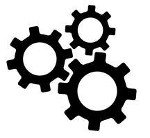 vetor de símbolo de engenharia de engrenagem