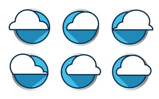 Vetor do ícone da nuvem, ilustração do vetor. Estilo design plano