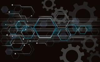 Engrenagem e tecnologia linha espaço abstrato