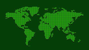 Mapa mundial vetor