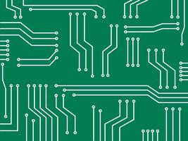 símbolo de tecnologia de linha de microchip abstrato