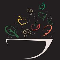 símbolo de design de tigela de salada