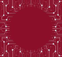 linha de tecnologia e círculo meio fundo do espaço