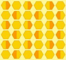 fundo dos desenhos animados de hexágono de colméia de abelha