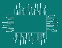 fundo de linha de tecnologia de caixa de microchip