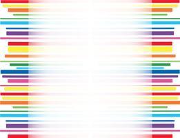 fundo de arte abstrata de linha de arco-íris vetor