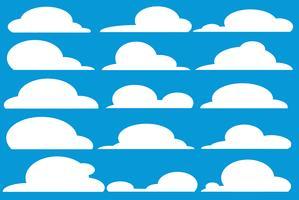vetor de arte de desenho de nuvem