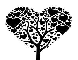 árvore do coração, vetor de símbolo de árvore de amor