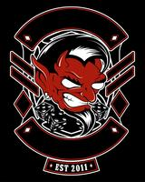 lucifer, evil, satanic demon vector mão desenho
