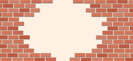 Parede de tijolos e espaço arte de fundo vector