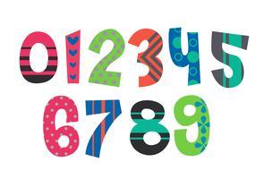 Números do alfabeto do designer vetor