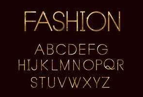 Fonte de moda dourada vetor