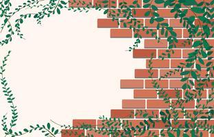 Coatbuttons mexicano margarida planta na parede de tijolos e espaço arte de fundo vector