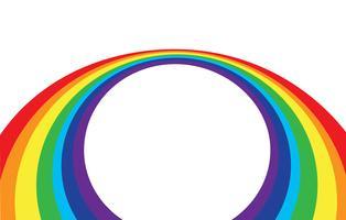 onda abstrata do arco-íris em um fundo branco vetor