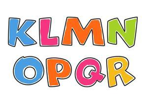 Crianças alfabetos coloridos parte 2 vetor