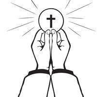 Vector comunhão sagrada