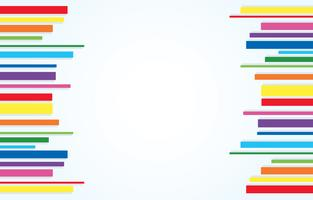 vetor de fundo de arte abstrata de linha de arco-íris