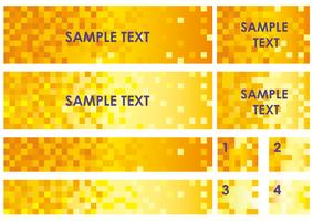 Conjunto de bandeiras sortidas / fundos com textura de polígono.