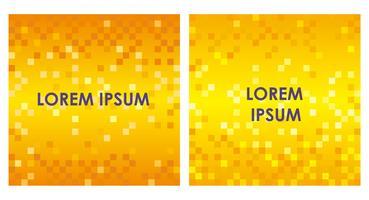 Conjunto de fundos abstratos quadrados com textura de polígono.