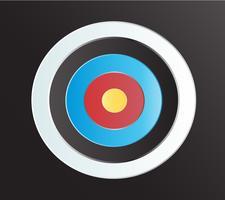 Alvo de arco e flecha arte de fundo vector