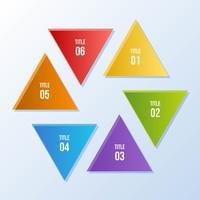 Gráfico de círculo, infográfico de círculo com forma de triângulo vetor