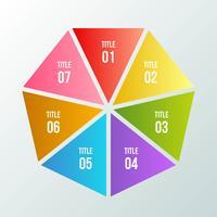 Gráfico de círculo, infográfico geométrico com forma de triângulo vetor