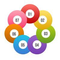 Círculo gráfico, círculo infográfico ou diagrama Circular vetor