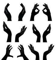 mãos livres segurando vector