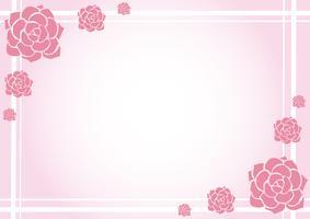 linda flor fundo pastel vetor