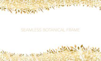 Fundo / frame botânicos sem emenda. Horizontalmente repetitivo. vetor