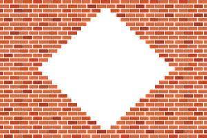 Abstrato da parede de tijolo marrom - desenho vetorial