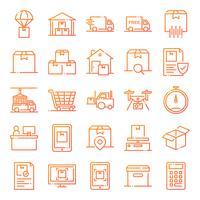 Pacote de ícones logísticos vetor